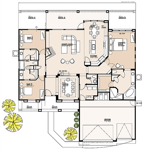 Plan 2385 Floor Plan