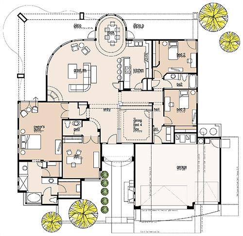 Plan 2600 Floor Plan